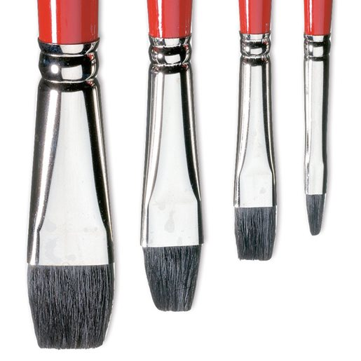 Cow Hair Paint Brushes 4 Pack