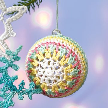 Crocheted baubles