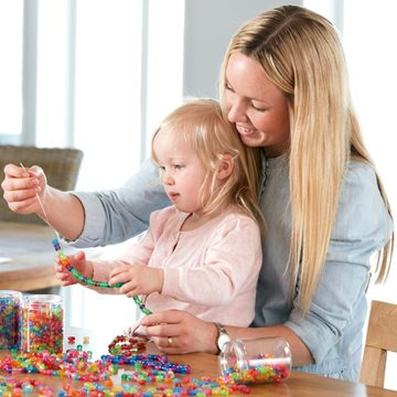 Beading with kids