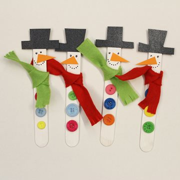 Stirring stick snowmen