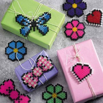 Perler bead gift tags