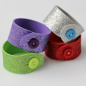 Decorative rubber bracelets
